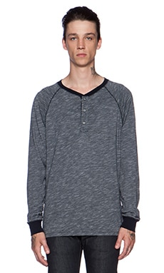 AG Adriano Goldschmied Commute Raglan Henley in Night Eclipse