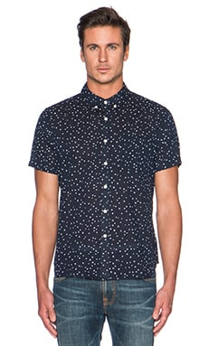 AG Adriano Goldschmied Aviator Short Sleeve Shirt in Night Eclipse Dot
