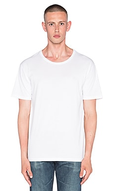 AG Adriano Goldschmied Commute Relaxed Tee in True White