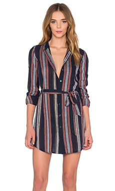 Jett Dress in Blue Night Stripe