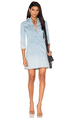 Jacqueline Button Up Dress in Crane
