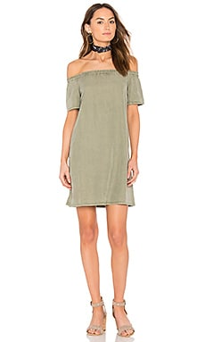 Harley Mini Dress in Sulfur Harvest Olive