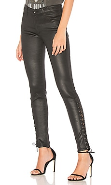 Farrah Leatherette Lace-Up