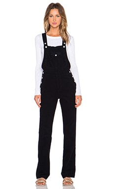 AG Adriano Goldschmied x Alexa Chung Bunny Overall in Super Black
