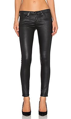 AG Adriano Goldschmied The Legging Ankle in Leatherette Light Super Black