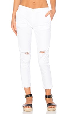 AG Adriano Goldschmied Tristan Trouser in Distressed White