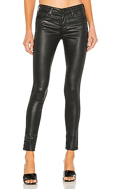 Leggings 7/8 en Leatherette Super Black