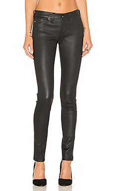 AG Adriano Goldschmied The Leather Legging in Super Black