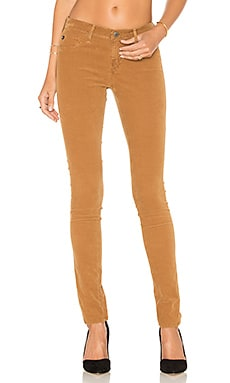 AG Adriano Goldschmied Legging in Sulfur Toffee Brown