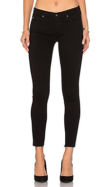 Legging Ankle in Schwarze Tinte