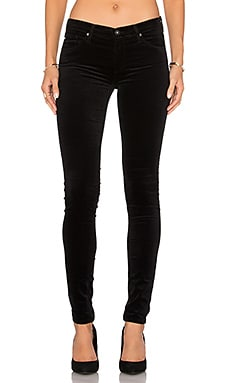 Velvet Legging in Super Black