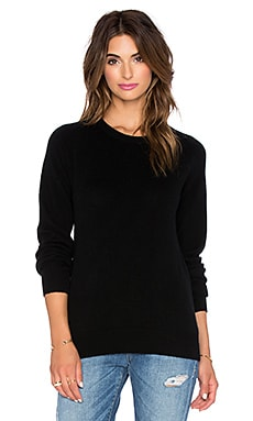 AG Adriano Goldschmied Rylea Crew Neck Sweater in True Black