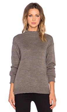 AG Adriano Goldschmied x Alexa Chung Scotland Sweater in Dark Olivine