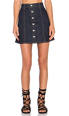AG Adriano Goldschmied x Alexa Chung Kety Skirt in Lone Star