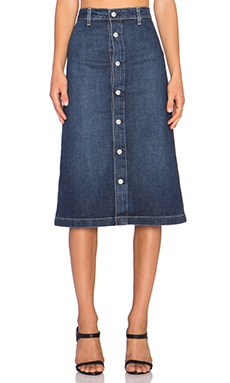 AG Adriano Goldschmied x Alexa Chung Cool Denim Skirt in Beet