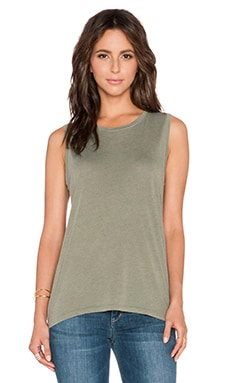 AG Adriano Goldschmied Float Sleeveless Tank in Dry Leaf