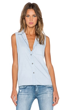 AG Adriano Goldschmied Ardyn Sleeveless Shirt in Pacific Tide