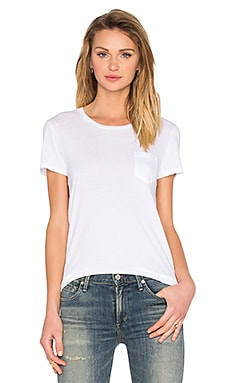 AG Adriano Goldschmied Quinn Pocket Tee in True White
