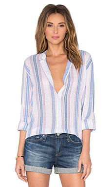 Briar Button Up in True White Stripe