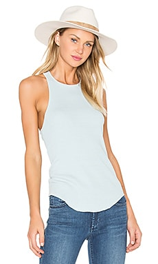 AG Adriano Goldschmied CAPSULE Kit Raw Hem Tank in Indigo