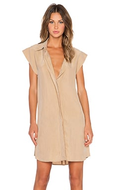 AGAIN Chestnut Dress in Camel