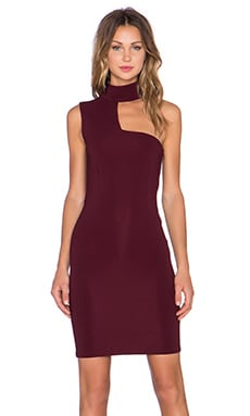 AGAIN Whiskey Dress in Burgundy