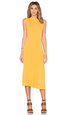 AGAIN Florence Dress in Mustard