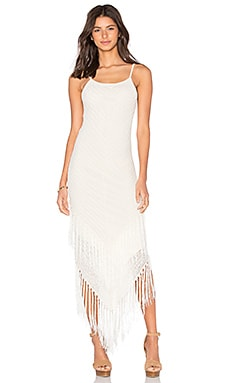AGAIN Abba Dress in Off White