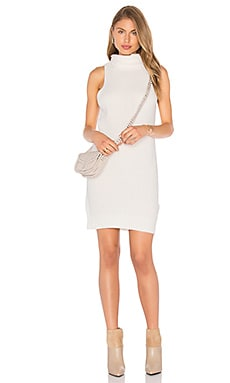 AGAIN Aiden Sweater Dress in White