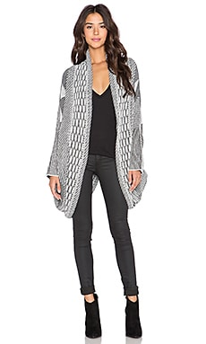AGAIN Woodford Cardigan in Black & White