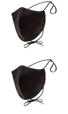 Two Pack Embroidered Cotton Masks AGOLDE $30 (FINAL SALE)