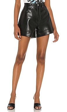 Recycled Leather Angled Hem Short AGOLDE $228