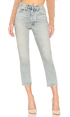 Прямые укороченные джинсы riley hi rise - AGOLDE
