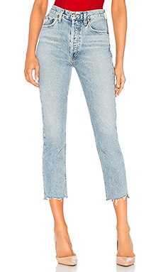 JEAN DROIT RILEY AGOLDE $198 BEST SELLER