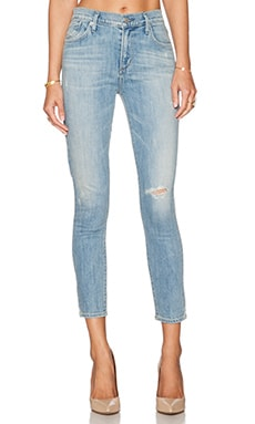A Gold E Sophie High Rise Crop Skinny in Blue Lagoon