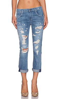 A Gold E Isabel Slim Fit Boyfriend in Chaumont Distressed