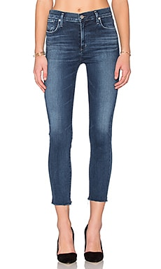 A Gold E Sophie High Rise Crop Skinny in Claremont