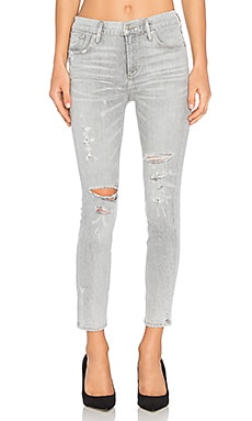 Sophie High Rise Crop Skinny in Portland Destructed
