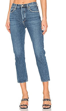 Riley High Rise Straight Crop en Air Blue