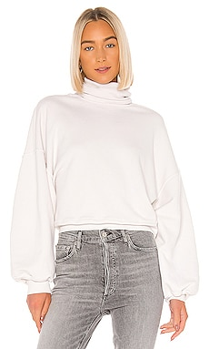Balloon Sleeve Turtleneck Sweatshirt AGOLDE $128