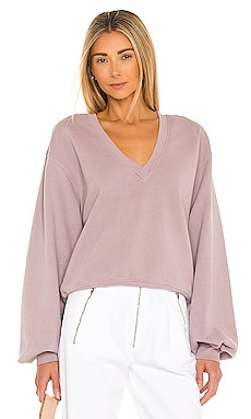 V Neck Balloon Sleeve Sweatshirt AGOLDE $138