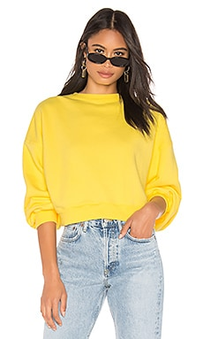 Balloon Sleeve Cropped Sweatshirt AGOLDE $158