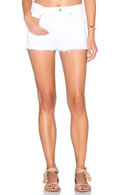 AGOLDE Jaden High Rise Cut Off Short in Glaze Distressed