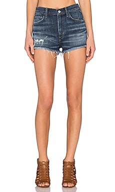 A Gold E Jaden High Rise Cut Off Short in Starwood Distressed