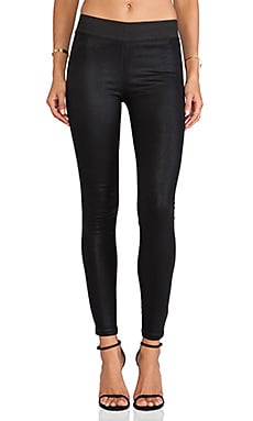 A Gold E Natalie Legging in Coated Noir