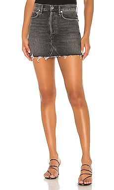 Quinn High Rise Mini Skirt AGOLDE $128