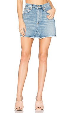 Quinn High Rise Mini Skirt in Devotee