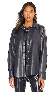 Calla Vegan Leather Shirt AGOLDE $275