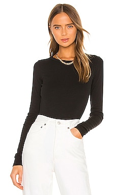 Leila Bodysuit Crew Neck Long Sleeve AGOLDE $98 BEST SELLER