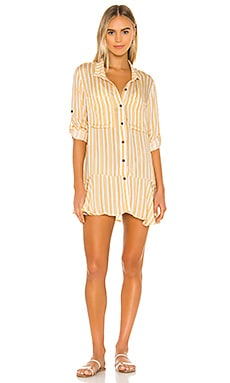 X REVOLVE Crystal Shirt Dress Agua Bendita $150